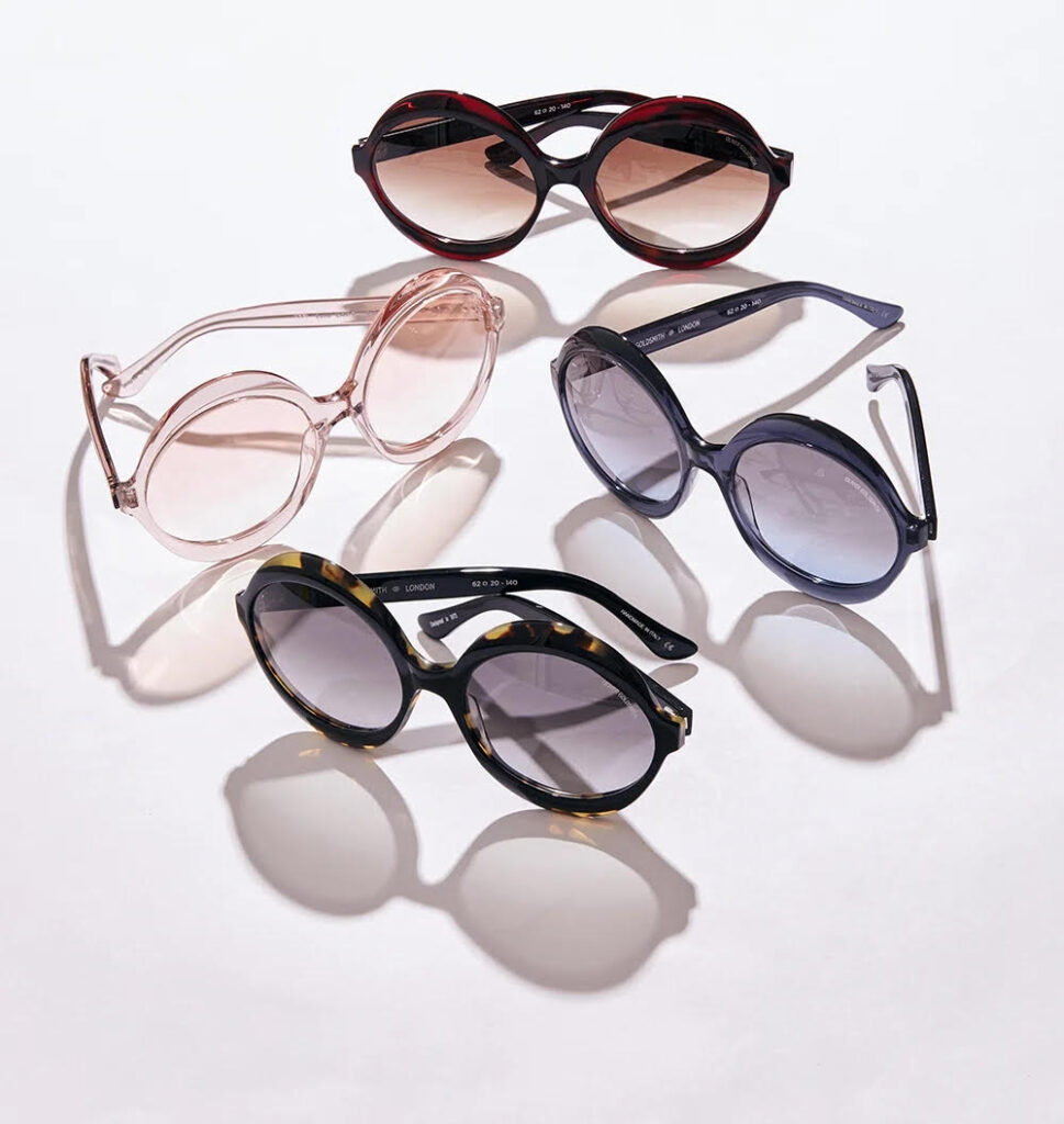 Kari Round Oversized Sunglasses Oliver Goldsmith Party Never Ends Collection